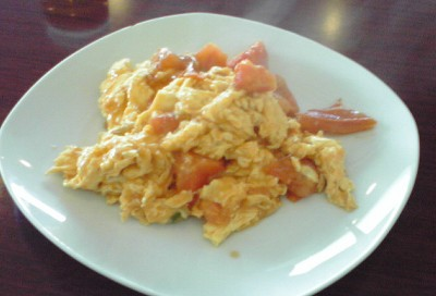 卵と完熟トマトの炒め