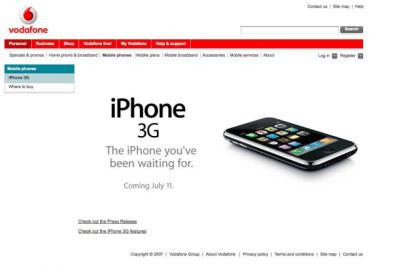 Vodafone NZ - iPhone 3G