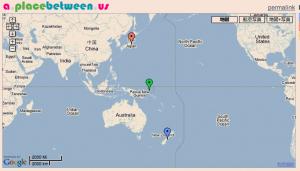 クライストチャーチと東京の中間地点