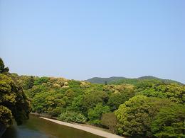 五十鈴川と山並み