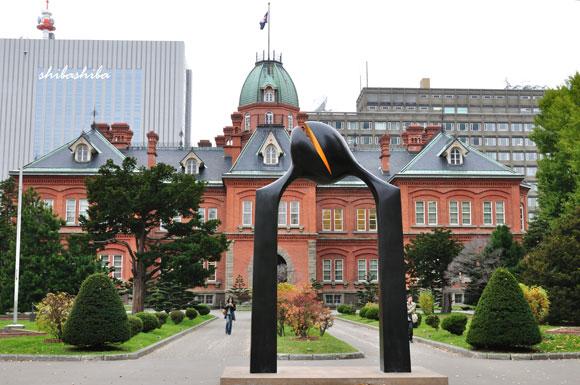赤レンガ庁舎前庭