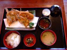 カレイ唐揚定食