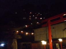 太鼓谷稲荷神社表参道(夜)