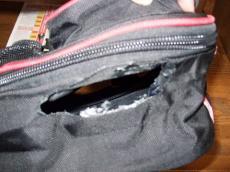 穴開きサイドバッグ