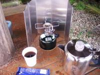 涼水庵の水でコーヒーをいただく♪