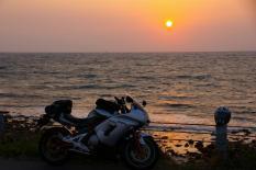角島からの夕日