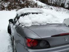 雪こんなに積もった~