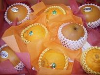 梨とオレンジ