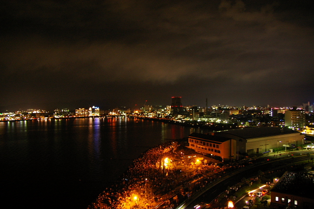 花火後の夜景