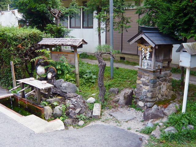 出雲坂根駅構内の延命水