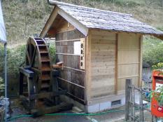 ふかたに荘温泉にある水車