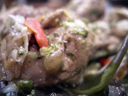 ラタトゥーユの鶏肉