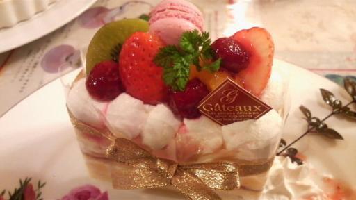 きれいなケーキ。