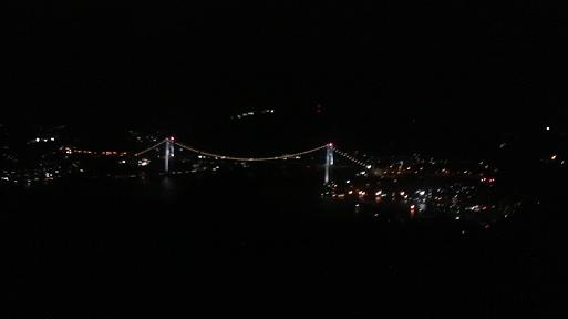 かざし山から見える海峡大橋