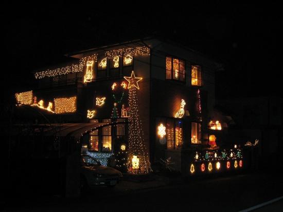 2008/12月/香川県/丸亀市/郡家町の民家イルミ2