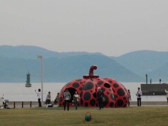 2009/05直島かぼちゃ赤