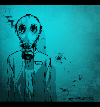 ガスマスク少年