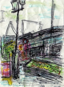 三宮風景画