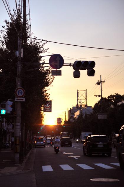 落日/丸太町通