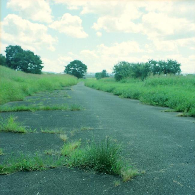 荒れた道の途中