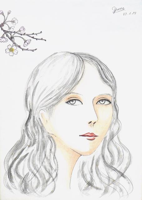 0409桜と女性