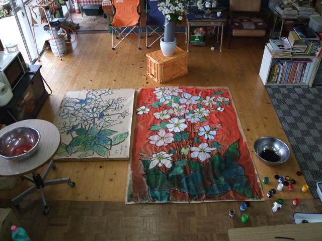 秋明菊の下絵