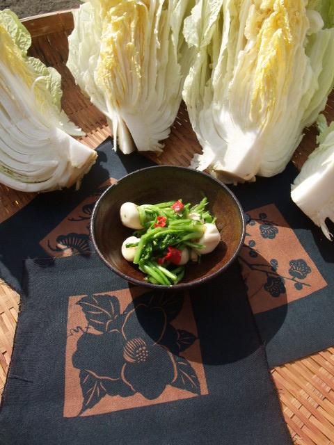 小かぶの漬物と白菜