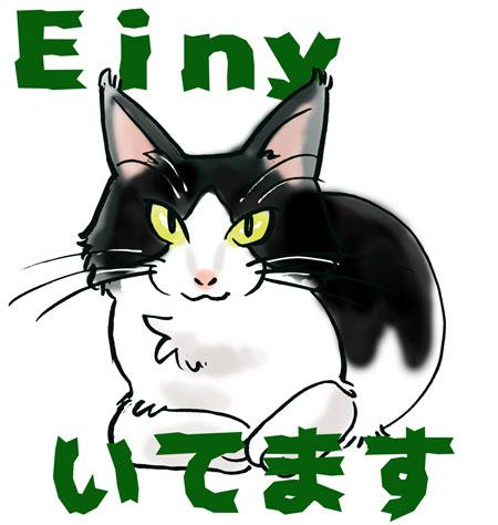 Einy、いてます