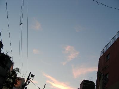 ある夕方の原宿の空