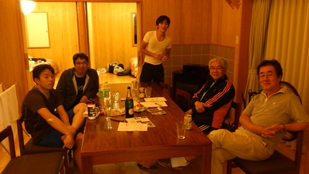 グランフォンド八ヶ岳2011 宿にて