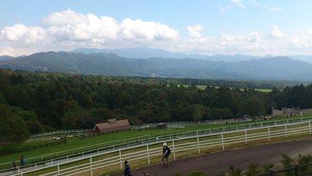 グランフォンド八ヶ岳2011 第7エイドより牧場を望む