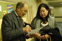 猪熊さんと中田事務局長