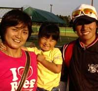 上野投手と!