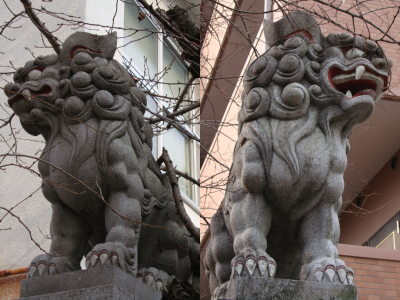 碇神社狛犬外側