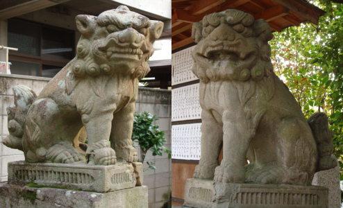 碇神社狛犬内側