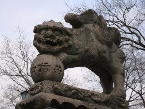 にぎつ狛犬(右)