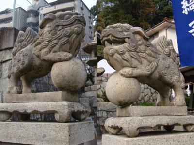 鳥居の狛犬