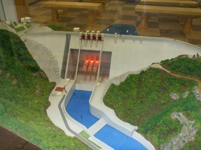 ダム資料館模型