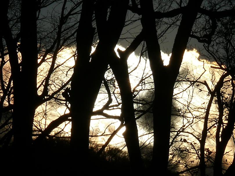 天鏡閣の夕陽