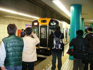 奈良駅に着いた阪神車両_2009-03-20