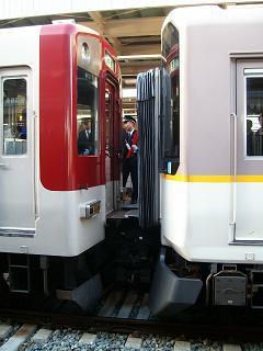 尼崎駅での分割&併結_2009-03-20