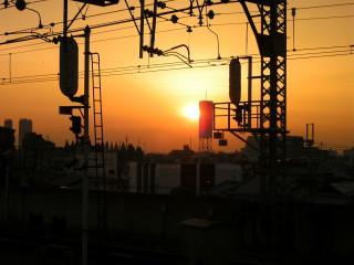 萱島の夕焼け_2009-05-10