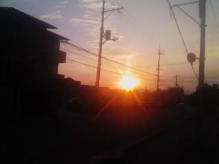 夕焼け(学校の近くで撮影!!)_2009-10-30