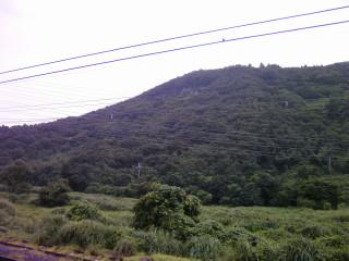 醒ヶ井駅から眺める山_2009-07-26
