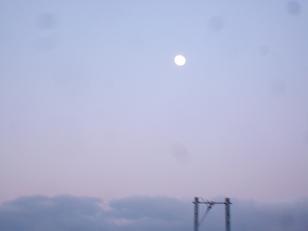 冬の寒いある朝の西の空の月_2008-12-13