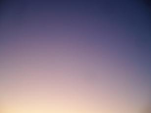 黄昏時の空の変わった色