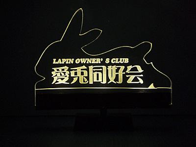 LEDライトアップ アクリルプレート チーム LAPIN1