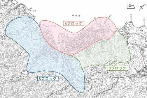 図8 調査区域:市街地の区分