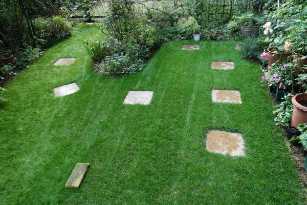 芝刈り完了2