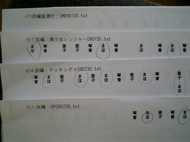 DVC台本アップ大